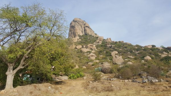 The view of the Rayakottai Hills from the trail head.