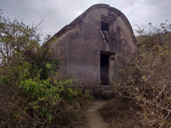 The dilapidated parish hall on top of rayakottai hills