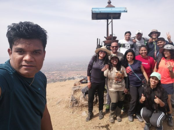 A selfie from the summit of Rayakottai Hills