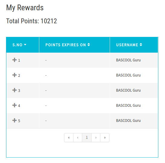 My Rewards in My Accounts page