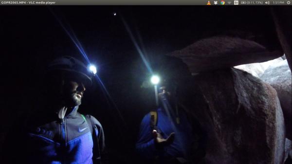 Gokul and Sinu having a short chat