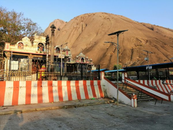 Temple at the trail head of Savandurga trek