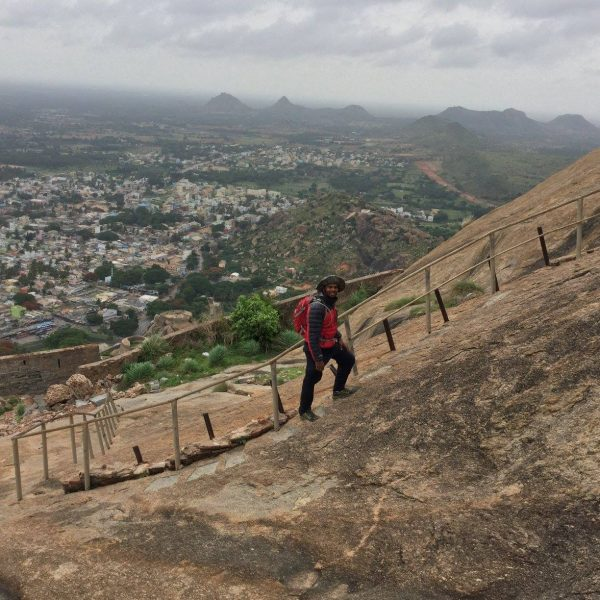 Madhugiri Fort trek Railings are gone