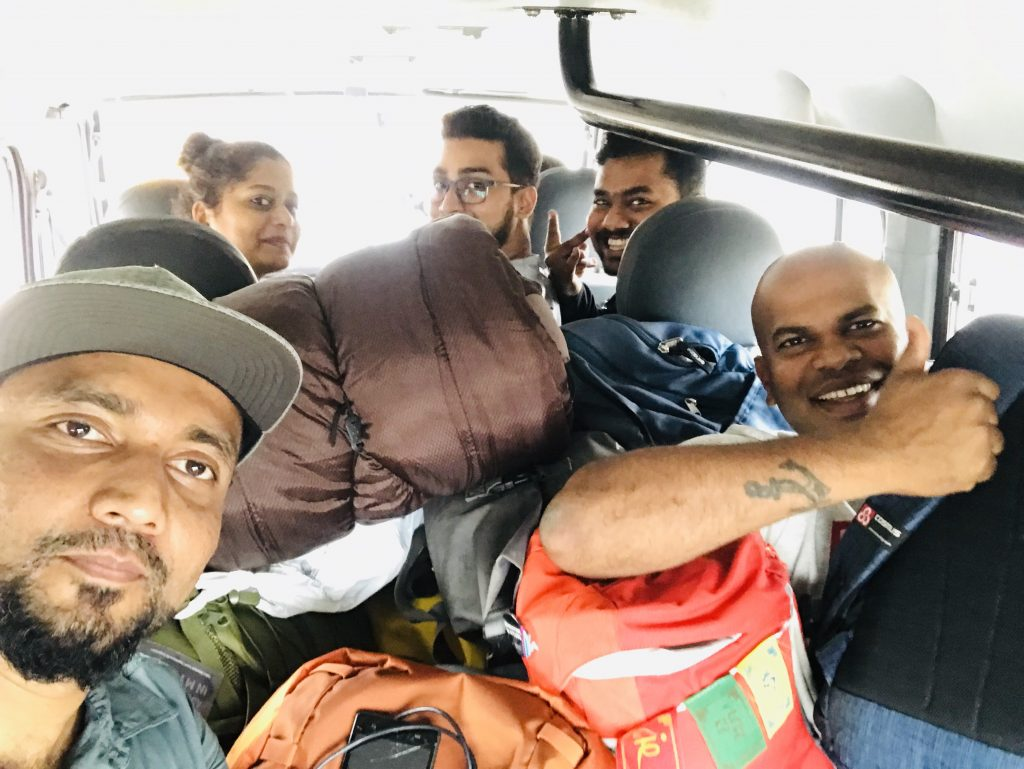 Team Mayavi inside the vehicle
