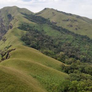 View of Kudremukh during the trek to Netravati peak