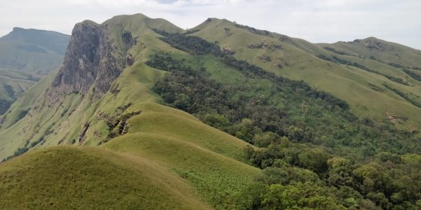 View of Kudremukh during the trek to Netravati peak